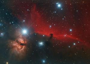 NGC 2024 Flammennebel, IC 434 und Pferdekopfnebel