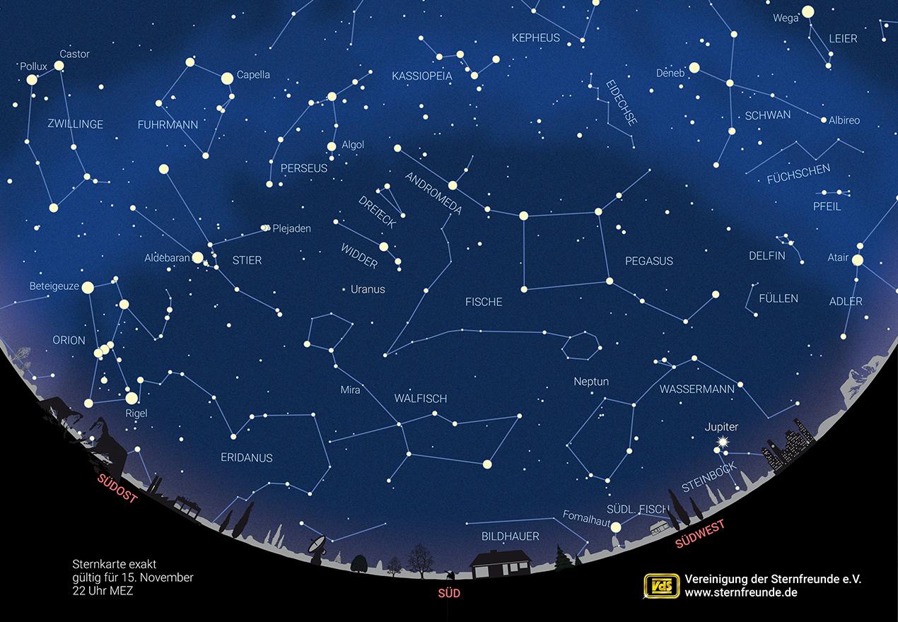 Himmelsvorschau – Der Sternenhimmel in diesem Monat
